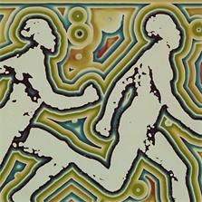 Pierre Cordier (1933 -), Photo-Chimigramme 9/3/79  'Hommage à Marey 1975' (détail H3), 60,3 x 50,8 cm, 1979.