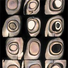 Pierre Cordier (1933 -), Chimigramme 29/11/76 'Minéral, végétal, animal' (détail), 60 x 121 cm, 1976.