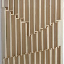 <span style='display:none;'>Jo Delahaut. Recherche spatiale (1964). Relief en bois, 47 x 36 cm. Collection Galerie Quadri.</span>