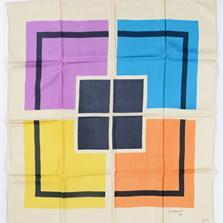 <span style='display:none;'>Jo Delahaut. Sans titre (1990). Foulard en soie, 86 x 86 cm. Collection privée.</span>