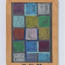 <span style='display:none;'>Jo Delahaut. Sans titre (1988). Craie sur ardoise, 25 x 18 cm.</span>