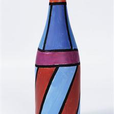 <span style='display:none;'>Jo Delahaut. Sans titre (ca.1980). Peinture sur verre, 30 x 9 cm. Collection privée.</span>