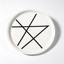<span style='display:none;'>Jo Delahaut. Sans titre (1987). Assiette en céramique, 30 cm. Collection privée.</span>