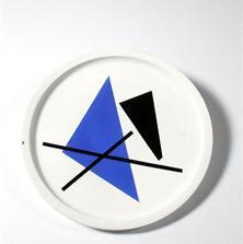 <span style='display:none;'>Jo Delahaut. Sans titre (s.d.) Céramique (assiette), 30 cm. Collection privée.</span>
